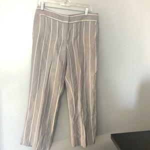 Loft Marisa poolside linen striped pants 6P
